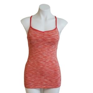 Lucy Athletic Tank Top Heathered Coral Small